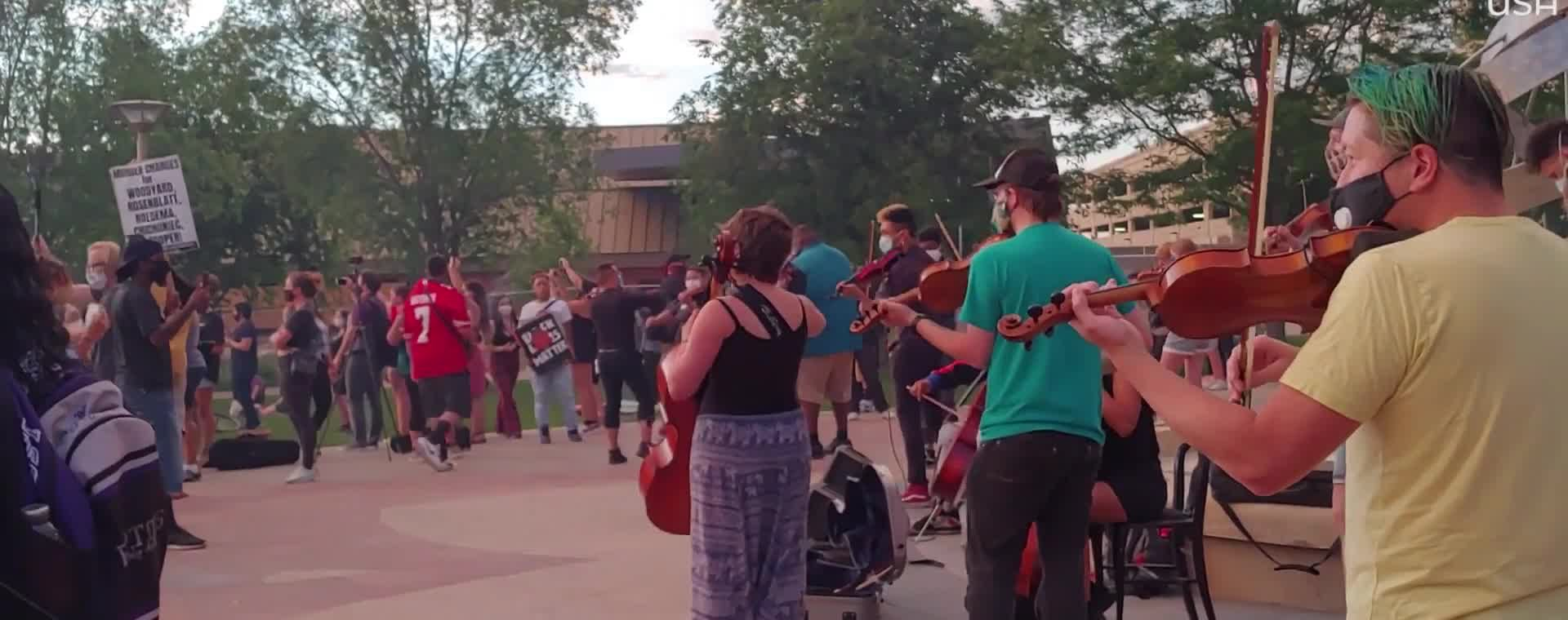 Tear Gas at Violin Vigil